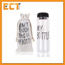 "Fashion Korea Water Bottle ""My Bottle"" (500ML) + Free Canvas Carry Bag (Random of 3 Colors)"