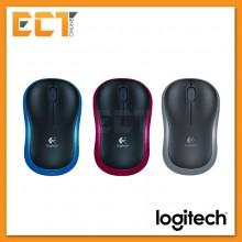 Logitech M185 Wireless Mouse - Blue/Grey/Red