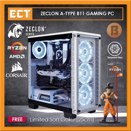 (2020 Latest) Zeclon Series A-Type B11 Ryzen 9, RTX 2070 Super Exclusive White Custom Made Gaming Desktop PC CPU