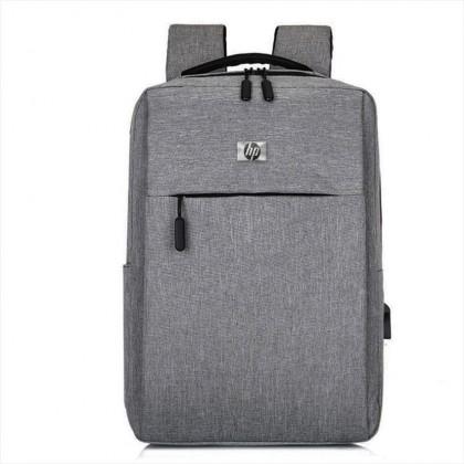 "HP 15.6"" Unisex Multipurpose Laptop Backpack with USB Charging Port - Black / Grey"