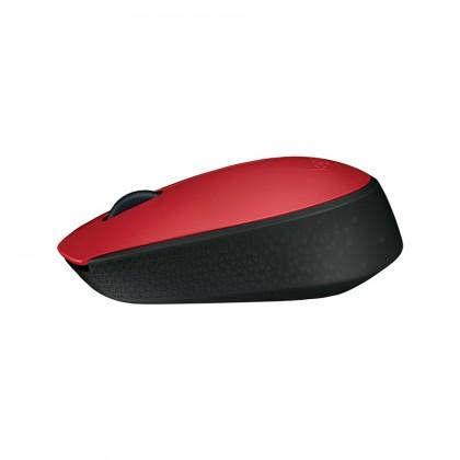 Logitech M170 Wireless Mouse (Grey/Blue/Red)