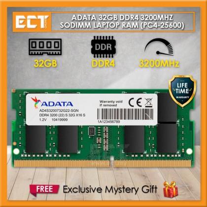 ADATA Premier DDR4 PC4-25600 3200MHz SODIMM Laptop Notebook Memory Ram - 8GB / 16GB / 32GB