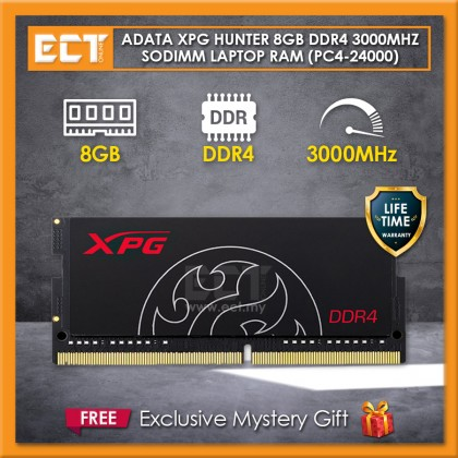 ADATA XPG Hunter 8GB DDR4 PC4-24000 3000MHz SODIMM Laptop Notebook Memory Ram