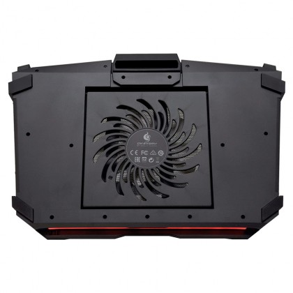 "Cooler Master CM STORM SF-17 Gaming 19"" Laptop Cooling Pad with Red LED Strip and 4 Ports USB Hub (R9-NBC-SF7K-GP)"