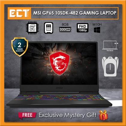 "MSI Leopard GP65 10SDK-482 Gaming Laptop (i7-10750H 5.00GHz,512GB SSD,8GB,GTX 1660 Ti 6GB,15.6"" FHD,W10)"