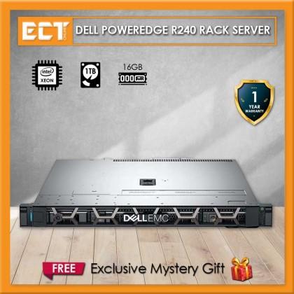 PowerEdge R240 Rack Server (Xeon  E-2124 4.30Ghz,1TB,16GB)