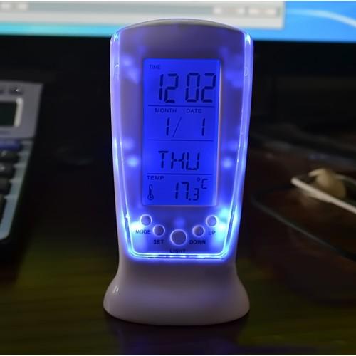 Led Backlight Calendar Alarm Square Clock 510