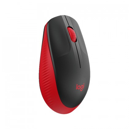 Logitech M190 Full-Size Wireless Mouse (Charcoal, Blue, Red)
