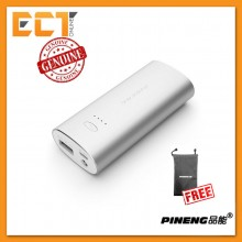 Genuine Pineng PN-926 5000mAH Powerbank (Silver) + FREE Pineng Pouch