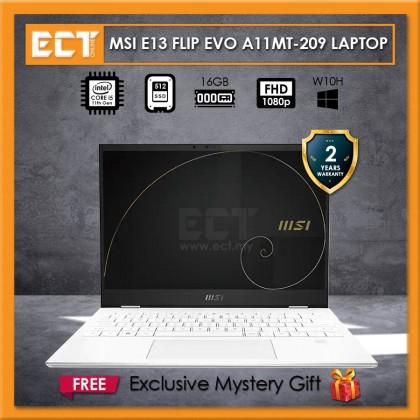 "MSI Summit E13 Flip Evo A11MT-209 Laptop (i5-1135G7 4.20GHz,512GB SSD,16GB,Intel Iris Xe,13.4"" FHD,W10) - White"