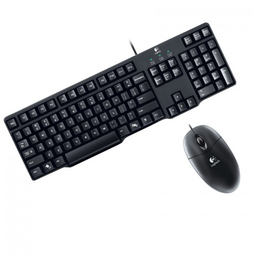 logitech mk100 full size wired keyboard and mouse combo. Black Bedroom Furniture Sets. Home Design Ideas