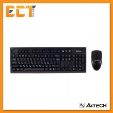 A4Tech 3100N V-Track Wireless Keyboard and Mouse Combo (Black)