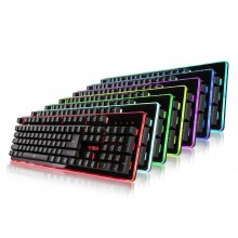 1STPLAYER Fire Dancing GK3 7 Color Changing Gaming Keyboard