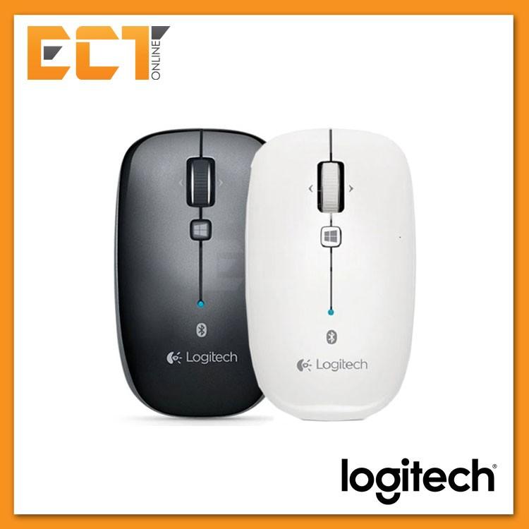 Logitech M557 Bluetooth Wireless Mouse - Dark Gray / Pearl White