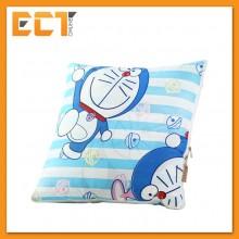 Doraemon 2 In 1 Cotton Pillow Blanket , Car Cushion Easy for Tavel Use