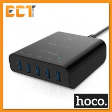 Hoco UH501 Intelligent Charging Expert 5V 2.4A 5 Ports USB Charger - Black