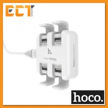 Hoco UH402 Stand Support Design 4 Port USB Travel Charger - White