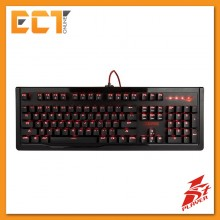 1STPLAYER Steampunk Blue Switch Mechanical Gaming Keyboard with Red LED