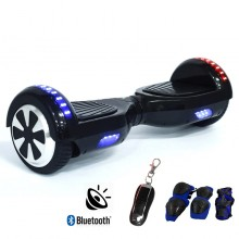 Evatronic Two Wheel Self Balancing Smart Electric Hover Board Scooter with Bluetooth Speaker and Remote - Black