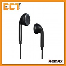 Genuine Remax RM-303 Pure Music Stereo Earphones With Mic Headset - Black