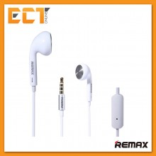 Genuine Remax RM-303 Pure Music Stereo Earphones With Mic Headset - White