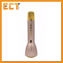 Magic Karaoke KTV-K088 Wireless Bluetooth Microphone Speaker with Recording & Powerbank Function - Gold