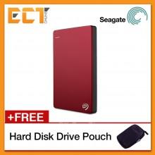 Seagate Backup Plus Slim 1TB Portable Hard Drive USB 3.0 STDR1000103 Bulk Pack - Red