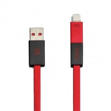 Remax RC-026T Shadow Magnet Absorption 2 in 1 Charging Cable Support Apple & Android Device (Red)