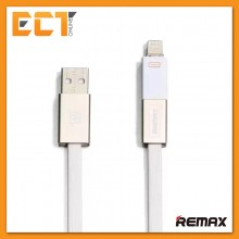 Remax RC-026T Shadow Magnet Absorption 2 in 1 Charging Cable Support Apple & Android Device (White Gold)