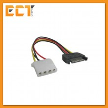 4 Pin Female IDE/Molex to 15 Pin SATA Male Power Adapter Cable