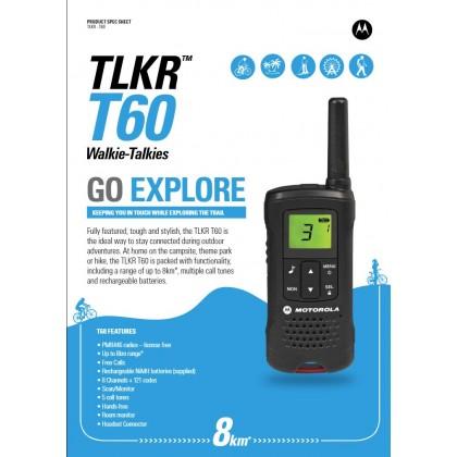 Motorola TLKR T60 Walkie Talkie (8KM)