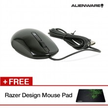 Alienware Modmuo KKMH5 USB Wired Scroll Wheel Laser 3 Buttons 1200DPI Gaming Mouse (Black)
