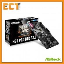 ASRock H81 Pro BTC R2.0 LGA 1150 Socket 6 PCI-E Slot ATX Form Factor Motherboard (Mining Board)