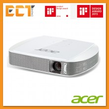 Acer C205 WXGA (1280 x 800) Resolution Portable Mini LED Projector - White