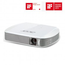 Acer C205 WXGA (1280 x 800) Resolution Portable Mini LED Projector - White