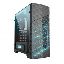 Azza Onyx 260 ATX Mid-Tower Gaming Casing/Chassis with RGB LED - Black (CSAZ-260X B)