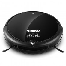 Evatronic Q7000 Multifunctional Robot Vacuum Cleaner with Zigzag Planned and Water Tank (Black)