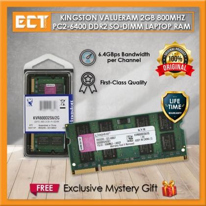 Kingston ValueRAM 2GB 800MHz DDR2 Laptop Notebook Memory RAM (KVR800D2S6/2G)