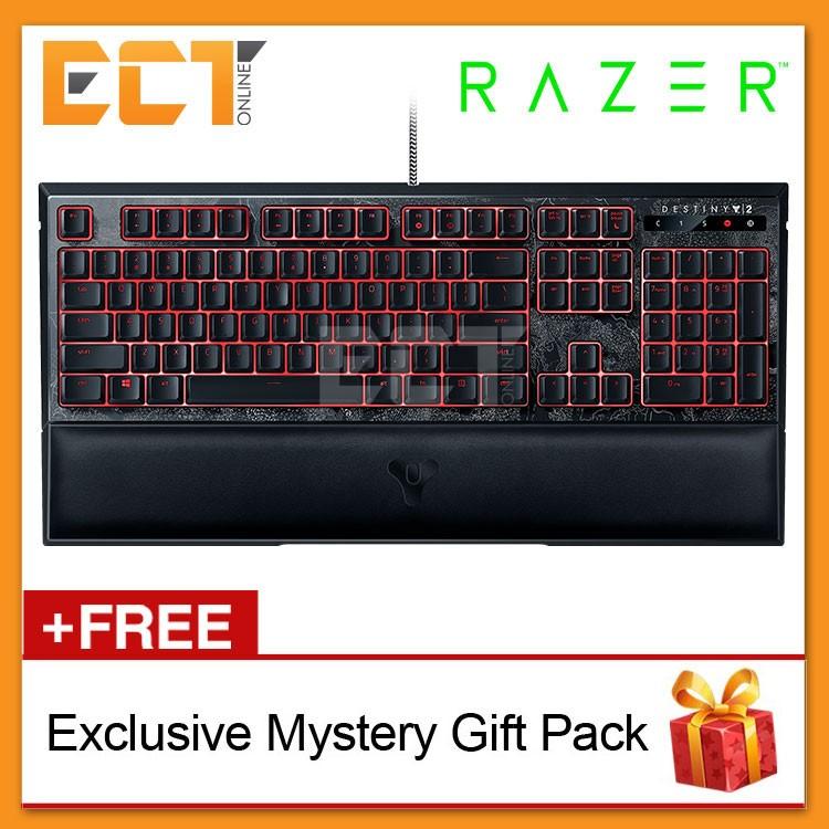 Razer Destiny 2 Ornata Chroma Mecha-Membrane with Wrist Rest Gaming  Keyboard (RZ03-02043400-R3M1)