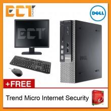 """(Refurbished) Dell Optiplex 7010 SFF + Dell 19"""" E1913S Monitor (i5-3470 3.60Ghz,500GB,4GB,DVD-RW,W7P)"""