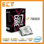 Intel Core i7-7800X Desktop Processor (3.50Ghz, 8.25MB SmartCache, 12 Threats, LGA2066 Socket)