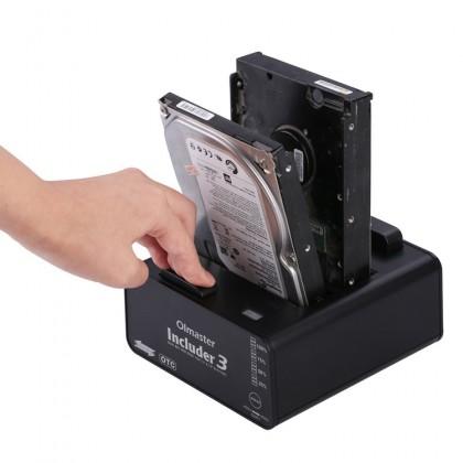 "Olmaster Includer 3 Dual Bay HDD Dock for 2.5"",3.5"" & SATA Hard Disk"