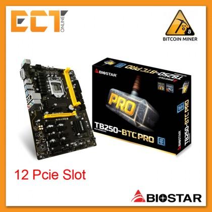 Biostar TB250-BTC PRO LGA1151 Socket 12 PCI-E Slot ATX Form Factor Motherboard (Mining Board)