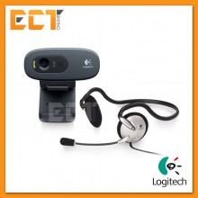 Logitech C270H HD Webcam with Mono Headset
