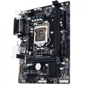 Gigabyte H110M-DS2 LGA 1151 Socket 3 PCI-E Slot M-ATX Ultra Durable Motherboard