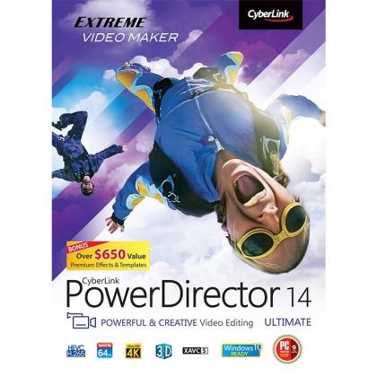 Genuine Cyberlink PowerDirector 14 Ultimate Powerful & Creative Video Editing Software
