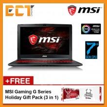 "MSI GL62M 7RDX-2605 Gaming Laptop (i7-7700 HQ,1TB,4GB,GTX1050-4G,15.6"" FHD,W10) - Black"