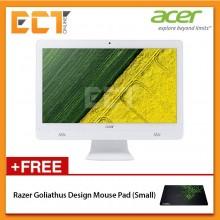 """Acer Aspire C20 AC20720-3060W10 All-In-One Desktop PC (J3060 2.48GHz,500GB,4GB,20"""" LED,W10)"""