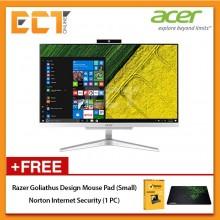 """Acer Aspire C22860-7130W10 All-In-One Desktop PC (i3-7130 2.70GHz,1TB,4GB,21.5"""" FHD,W10)"""