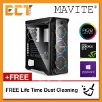 (2018 Latest) Mavite G1 Exclusive Forge Budget Pro RGB Gaming Desktop PC (i5-8600K,GTX1060,120GB+1TB,8GB,W10P)